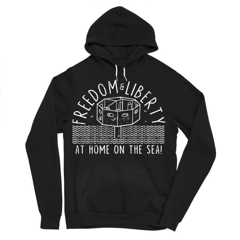 Freedom & Liberty First Seastead Women's Sponge Fleece Pullover Hoody by The Seasteading Institute's Supporters Shop