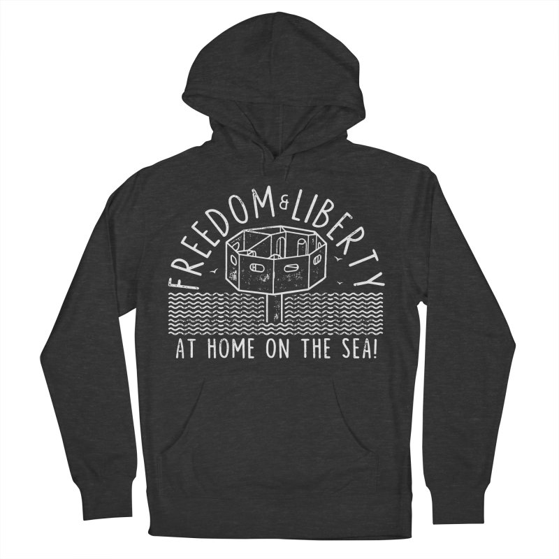 Freedom & Liberty First Seastead Men's French Terry Pullover Hoody by The Seasteading Institute's Supporters Shop