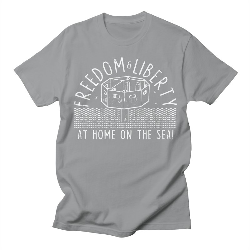 Freedom & Liberty First Seastead Men's Regular T-Shirt by The Seasteading Institute's Supporters Shop
