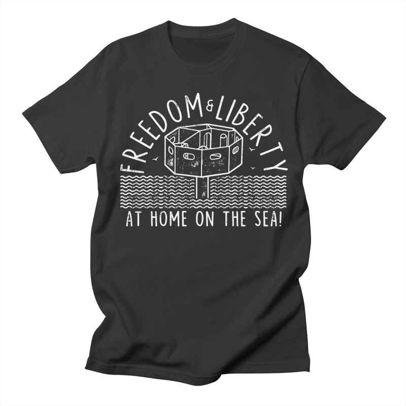 Freedom & Liberty First Seastead Women's Regular Unisex T-Shirt by The Seasteading Institute's Supporters Shop