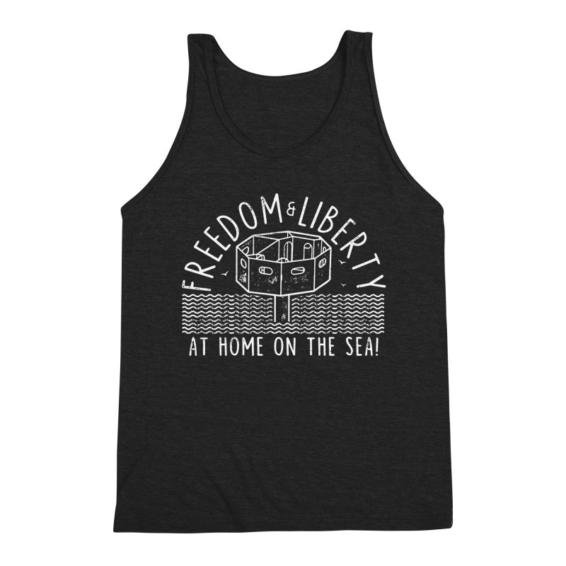 Freedom & Liberty First Seastead Men's Triblend Tank by The Seasteading Institute's Supporters Shop