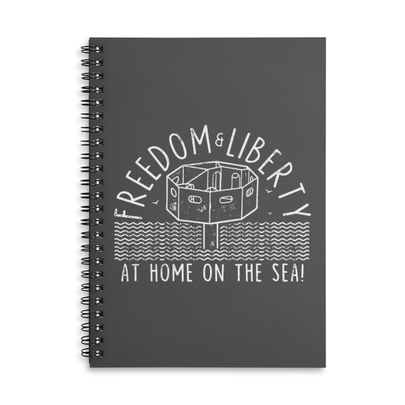 Freedom & Liberty First Seastead Accessories Lined Spiral Notebook by The Seasteading Institute's Supporters Shop