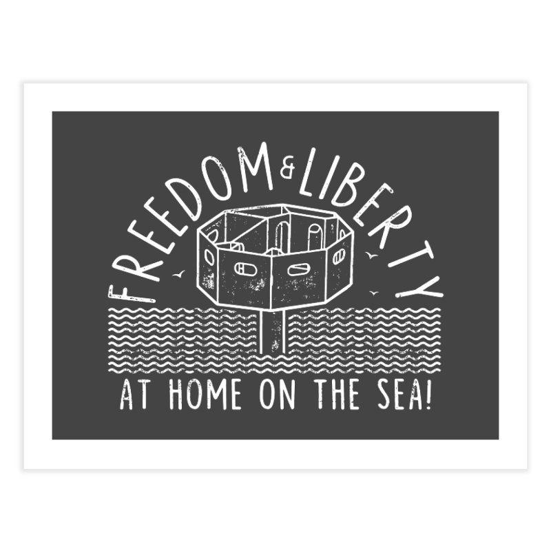 Freedom & Liberty First Seastead Home Fine Art Print by The Seasteading Institute's Supporters Shop