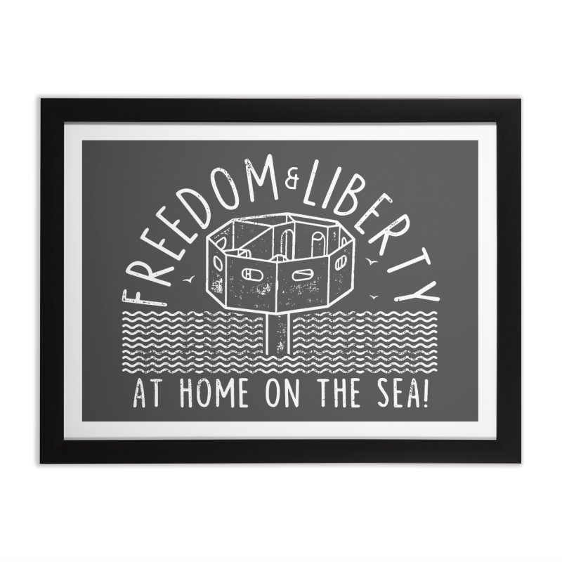 Freedom & Liberty First Seastead Home Framed Fine Art Print by The Seasteading Institute's Supporters Shop