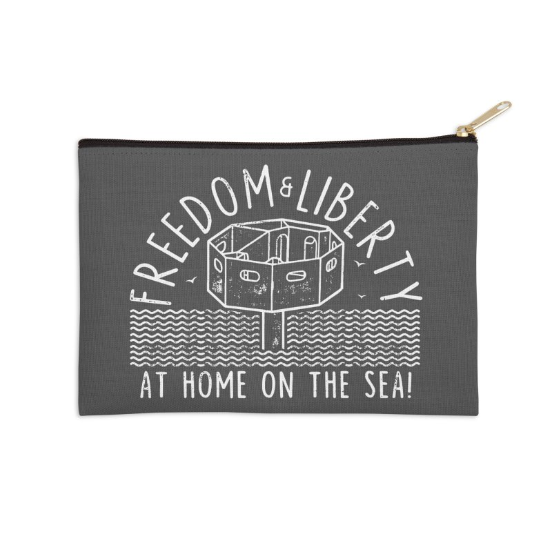 Freedom & Liberty First Seastead Accessories Zip Pouch by The Seasteading Institute's Supporters Shop