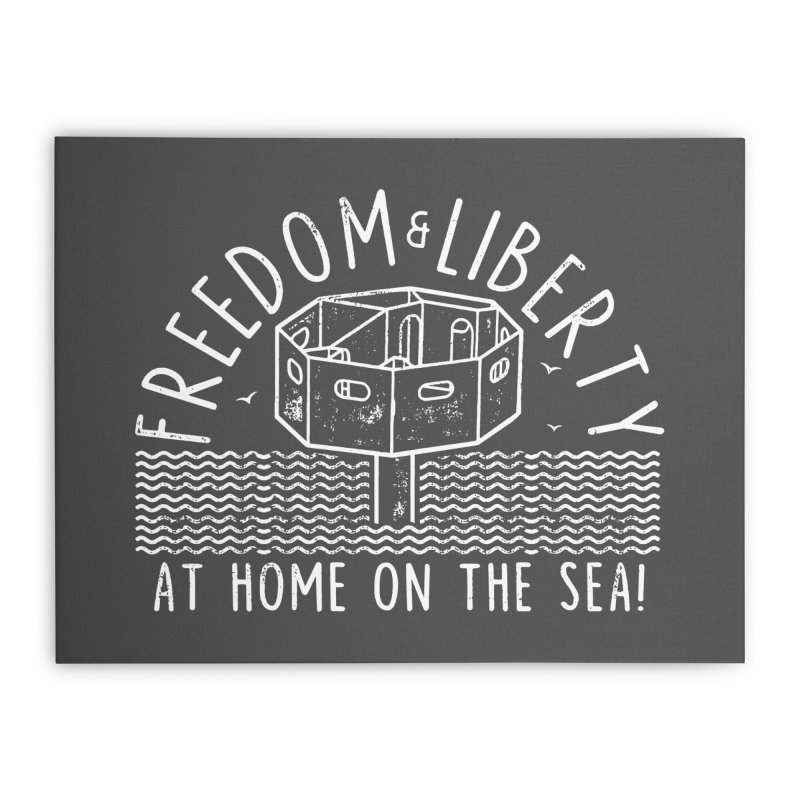 Freedom & Liberty First Seastead Home Stretched Canvas by The Seasteading Institute's Supporters Shop