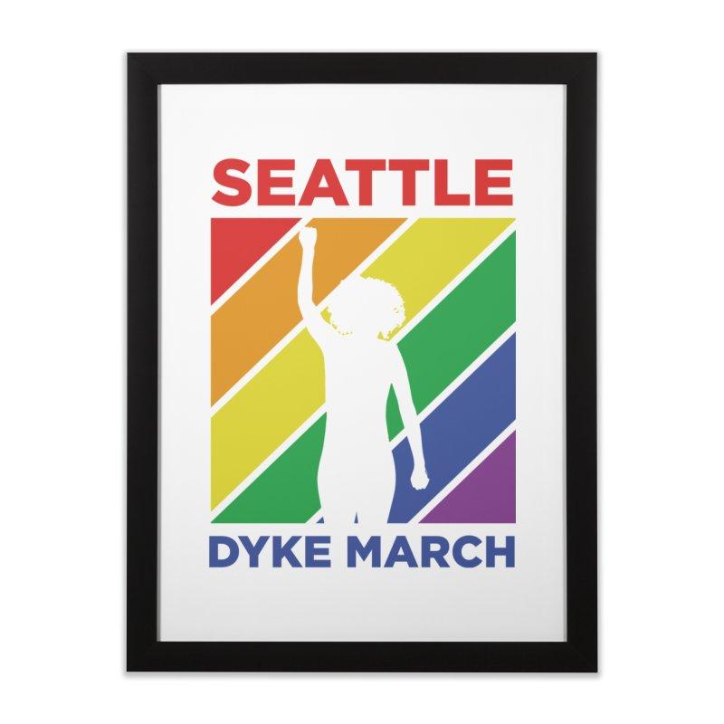 Seattle Dyke March Logo Home Framed Fine Art Print by Seattle Dyke March's Shop
