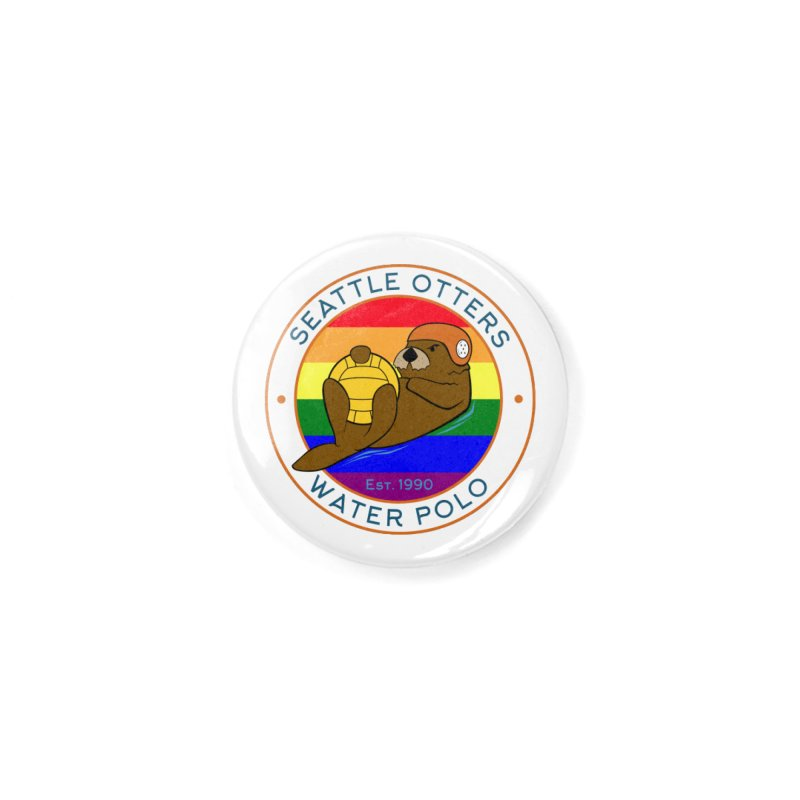 Otters Pride Accessories Button by Seattle Otters Water Polo
