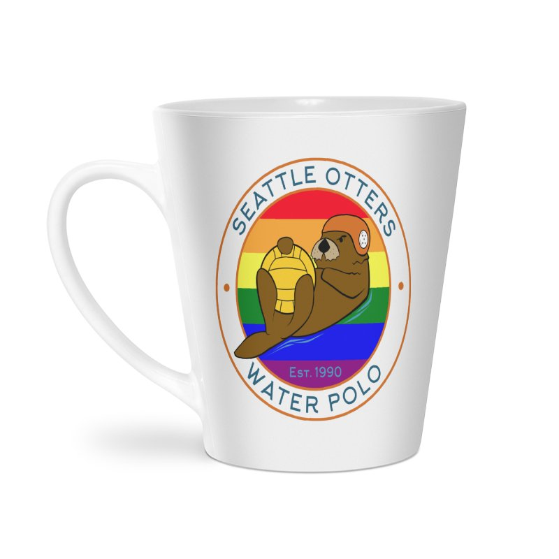 Otters Pride Accessories Latte Mug by Seattle Otters Water Polo
