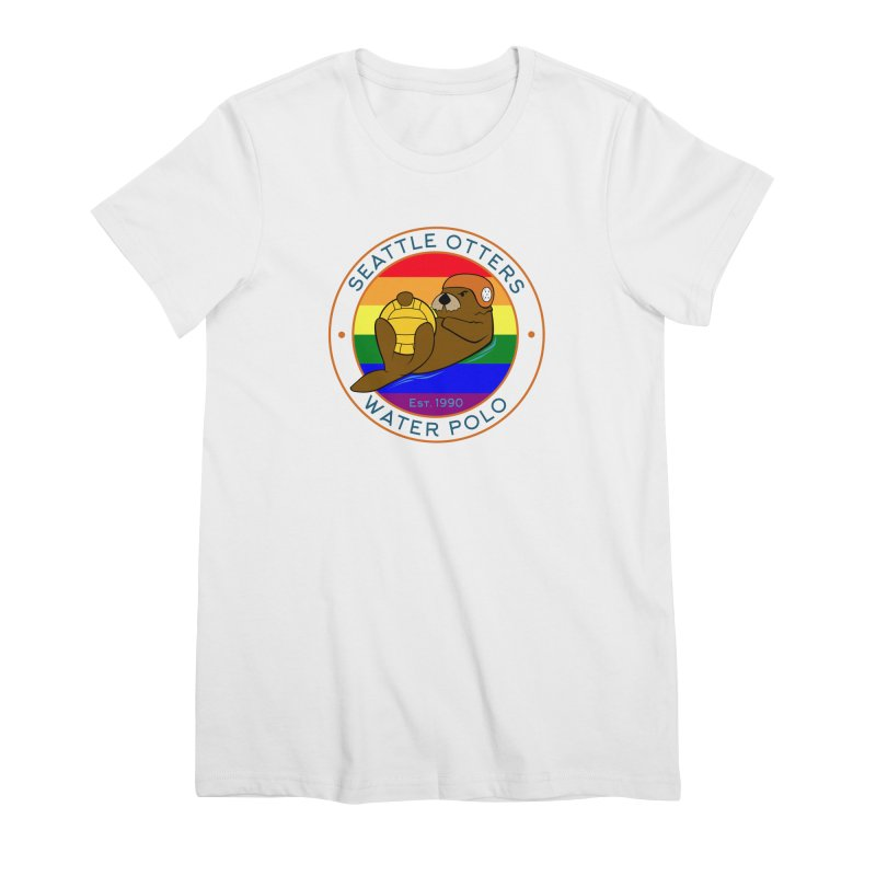 Otters Pride Women's Premium T-Shirt by Seattle Otters Water Polo
