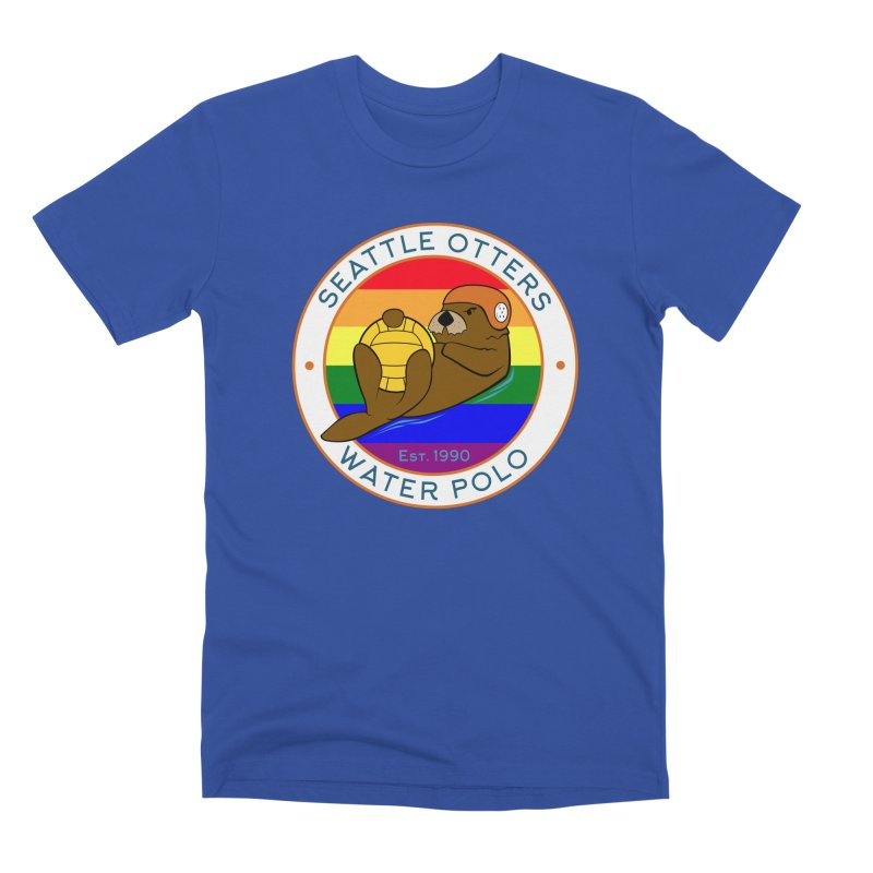 Otters Pride Men's Premium T-Shirt by Seattle Otters Water Polo