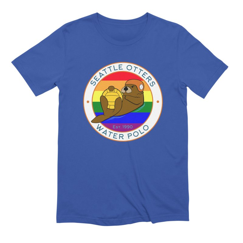 Otters Pride Men's Extra Soft T-Shirt by Seattle Otters Water Polo
