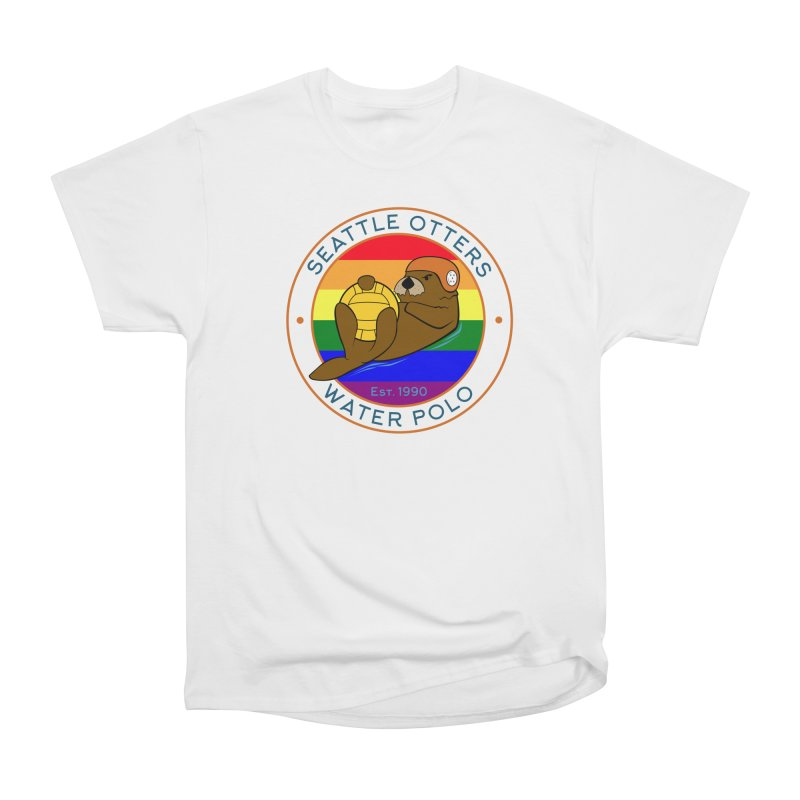 Otters Pride Women's Heavyweight Unisex T-Shirt by Seattle Otters Water Polo