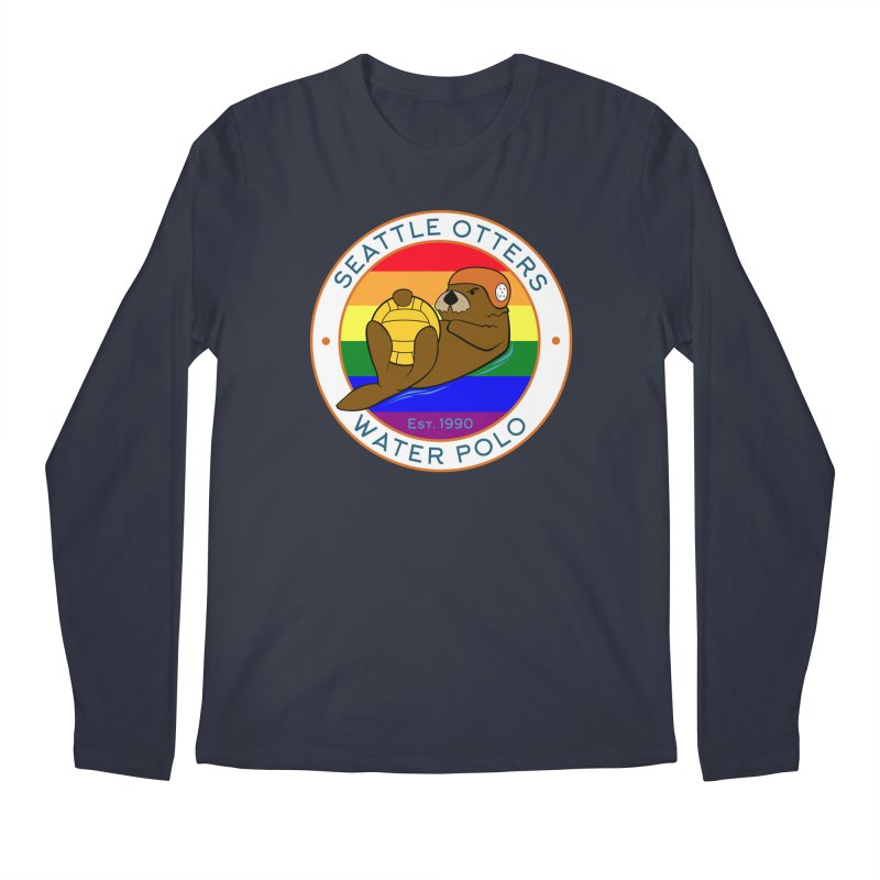 Otters Pride Men's Regular Longsleeve T-Shirt by Seattle Otters Water Polo