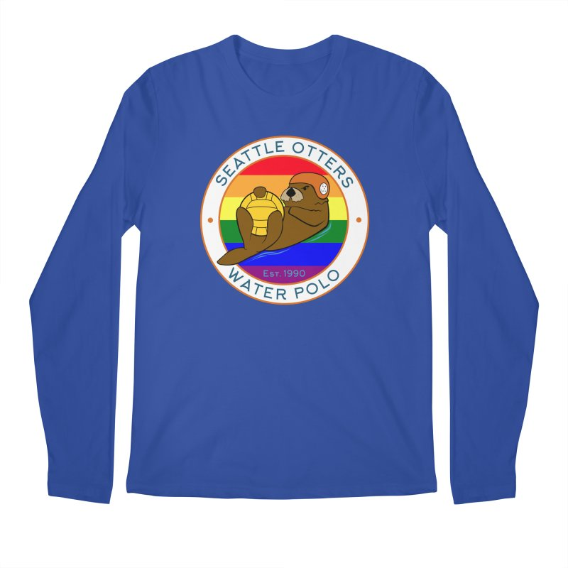 Otters Pride Men's Regular Longsleeve T-Shirt by Seattle Otters Water Polo