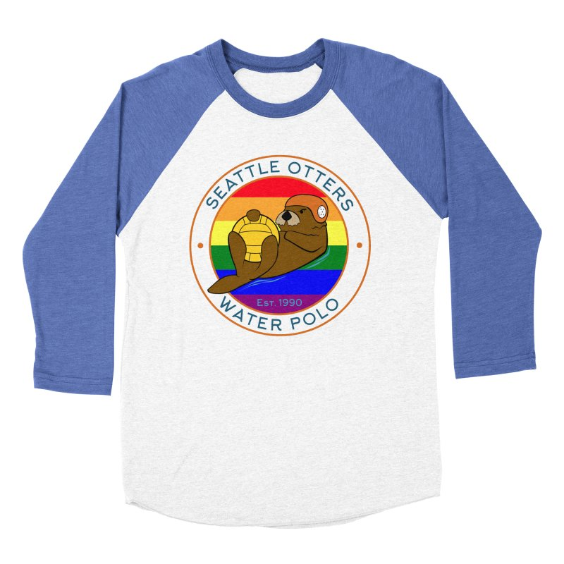 Otters Pride Men's Baseball Triblend Longsleeve T-Shirt by Seattle Otters Water Polo