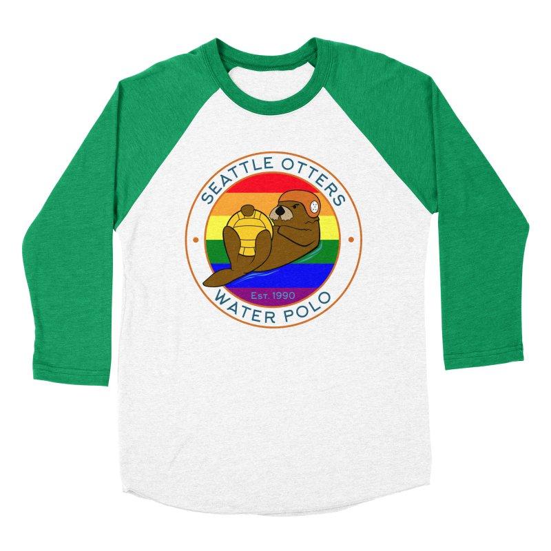 Otters Pride Men's Baseball Triblend Longsleeve T-Shirt by Seattle Otters Water Polo