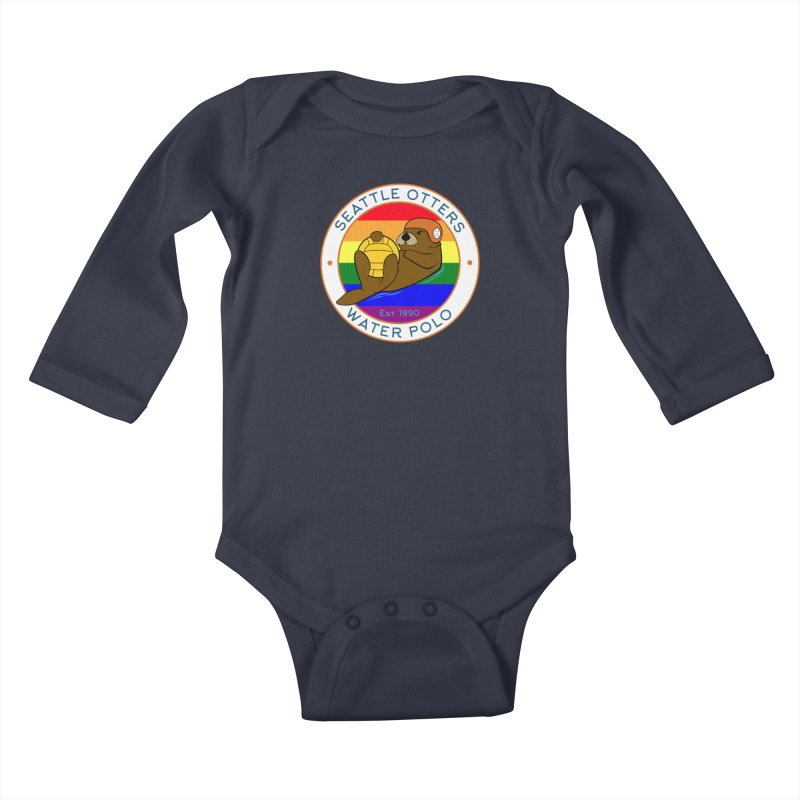 Otters Pride Kids Baby Longsleeve Bodysuit by Seattle Otters Water Polo