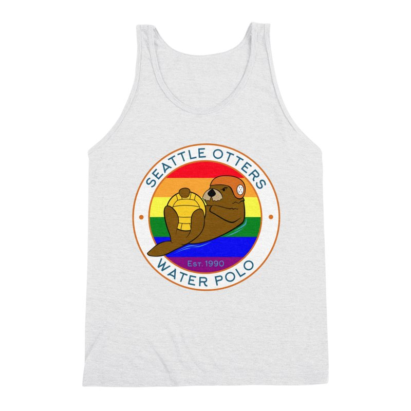 Otters Pride Men's Triblend Tank by Seattle Otters Water Polo