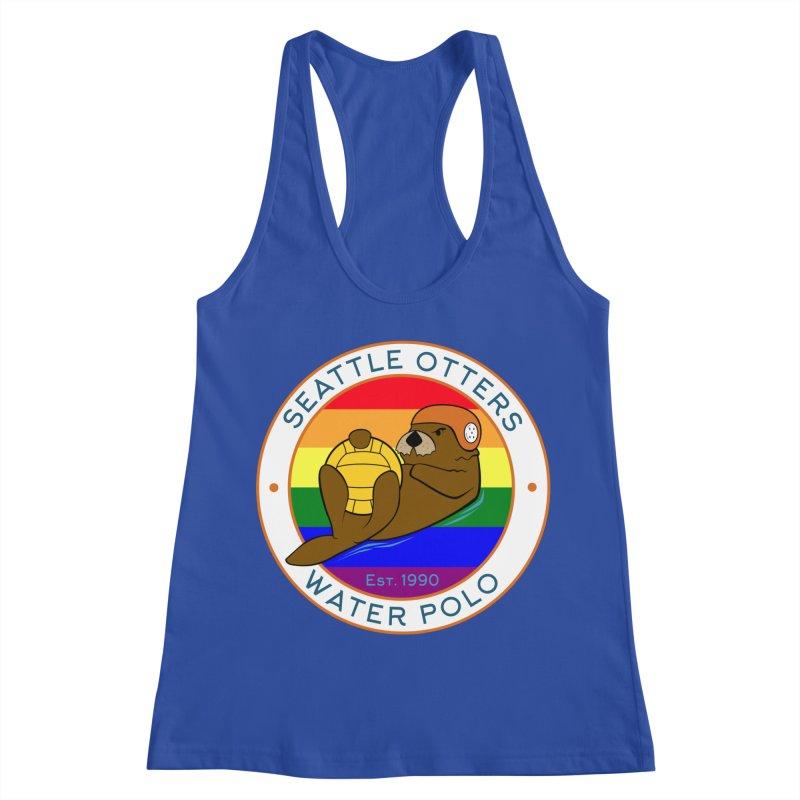 Otters Pride Women's Racerback Tank by Seattle Otters Water Polo
