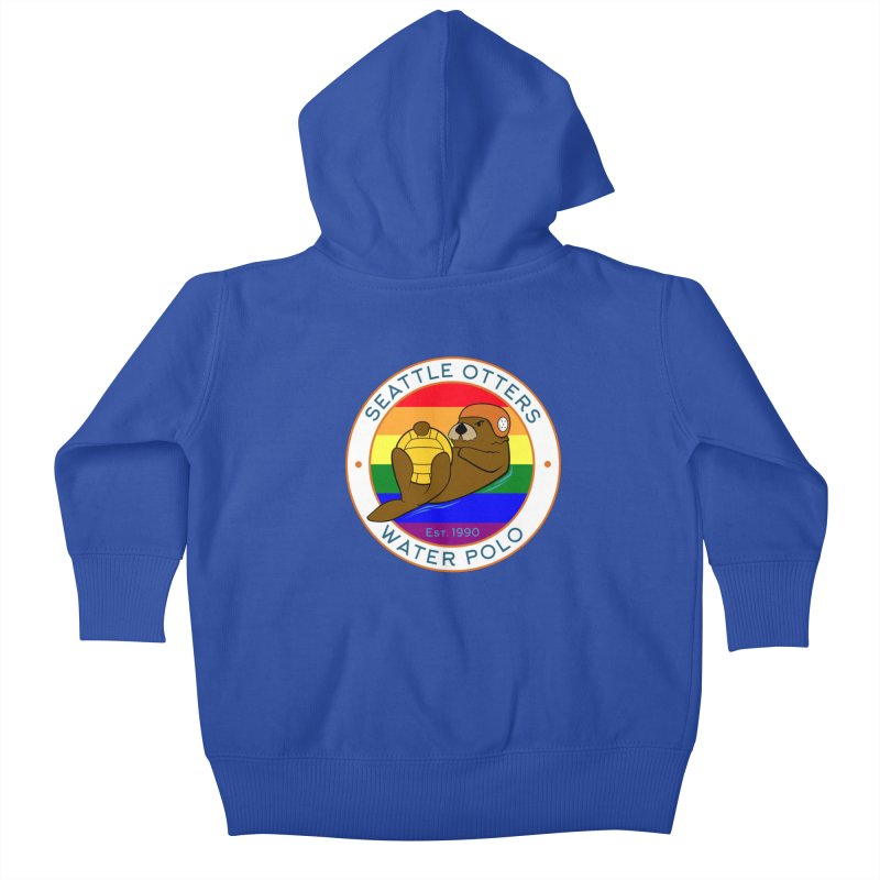 Otters Pride Kids Baby Zip-Up Hoody by Seattle Otters Water Polo