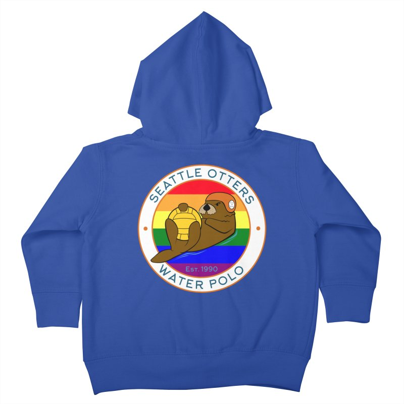 Otters Pride Kids Toddler Zip-Up Hoody by Seattle Otters Water Polo