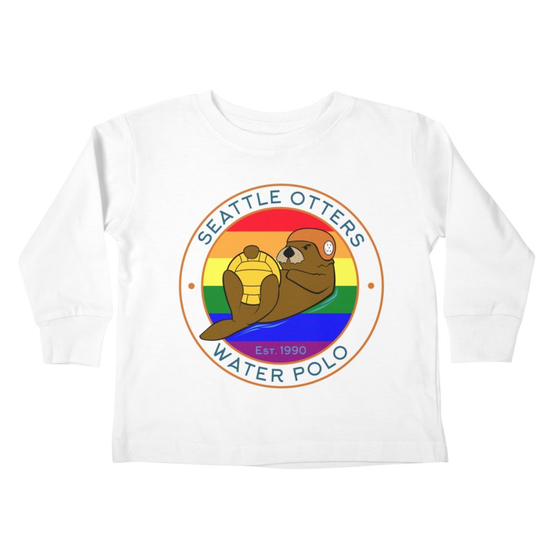 Otters Pride Kids Toddler Longsleeve T-Shirt by Seattle Otters Water Polo