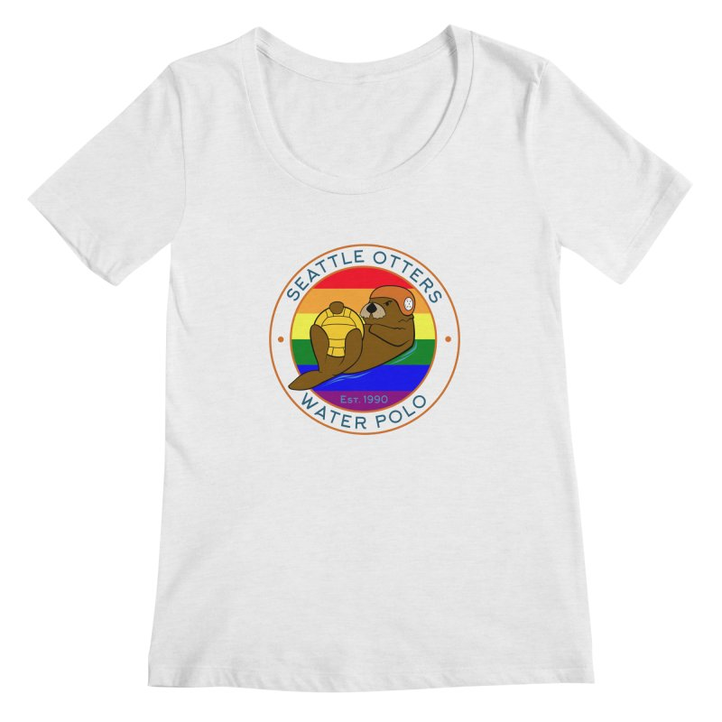 Otters Pride Women's Regular Scoop Neck by Seattle Otters Water Polo