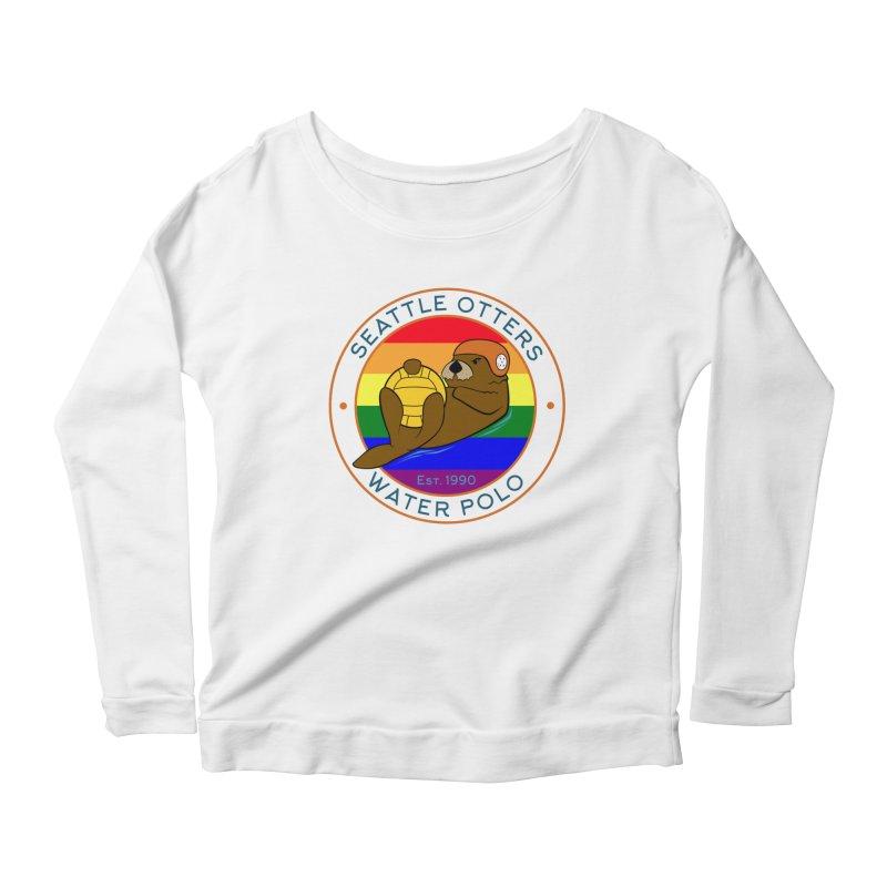 Otters Pride Women's Scoop Neck Longsleeve T-Shirt by Seattle Otters Water Polo