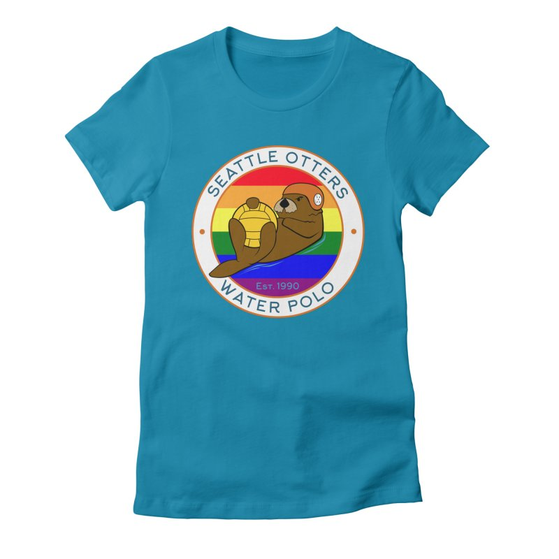 Otters Pride Women's Fitted T-Shirt by Seattle Otters Water Polo