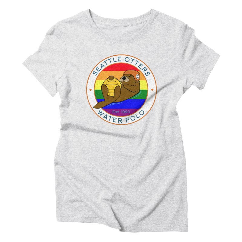 Otters Pride Women's Triblend T-Shirt by Seattle Otters Water Polo