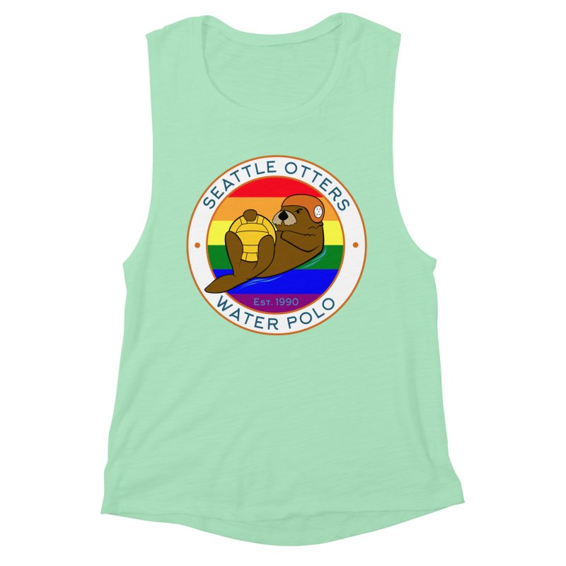 Otters Pride Women's Muscle Tank by Seattle Otters Water Polo