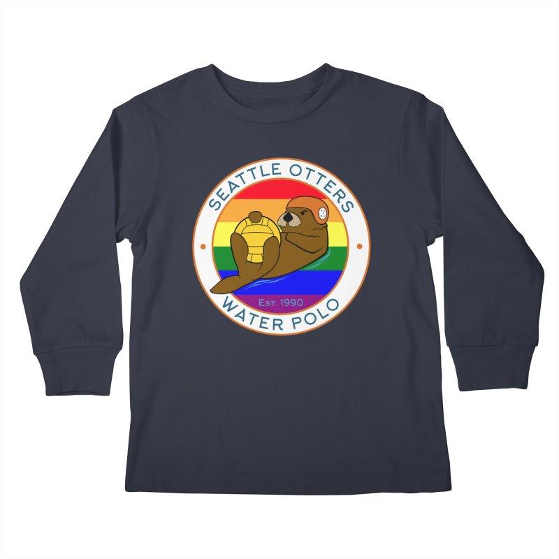 Otters Pride Kids Longsleeve T-Shirt by Seattle Otters Water Polo