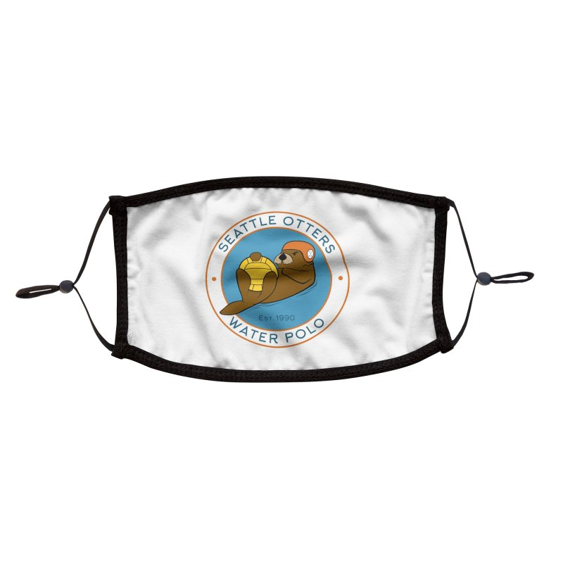 Otters Logo Accessories Face Mask by Seattle Otters Water Polo