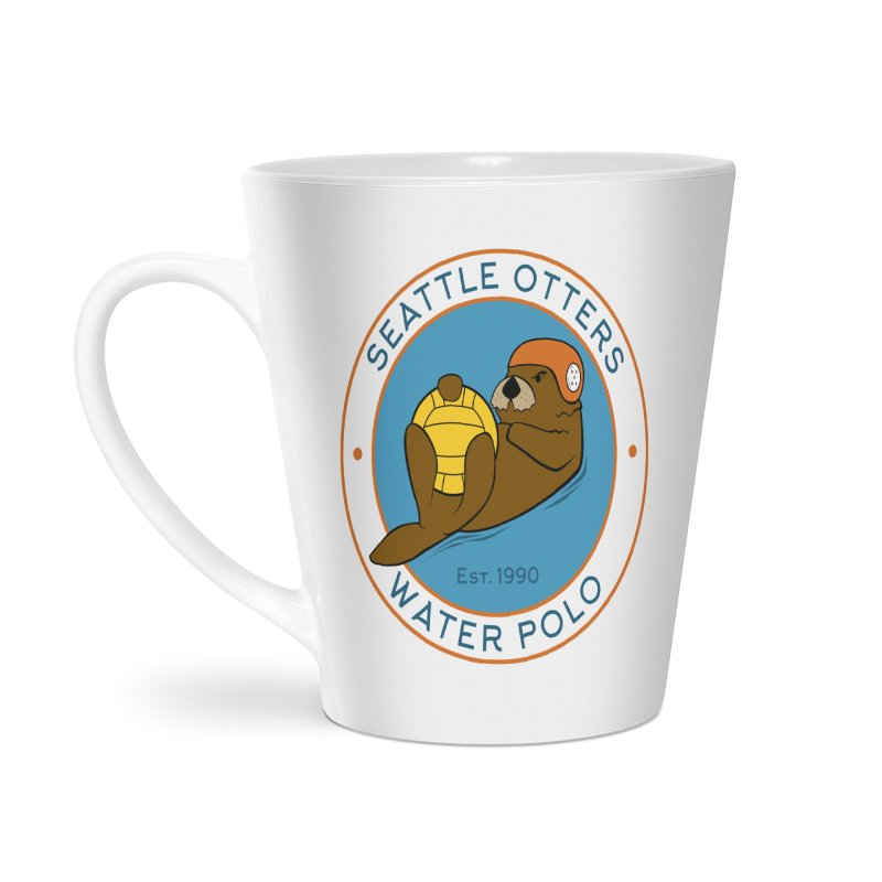 Otters Logo Accessories Latte Mug by Seattle Otters Water Polo