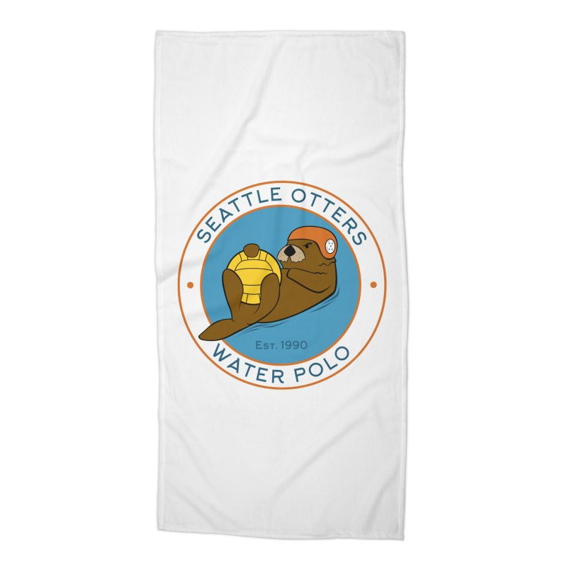 Otters Logo Accessories Beach Towel by Seattle Otters Water Polo