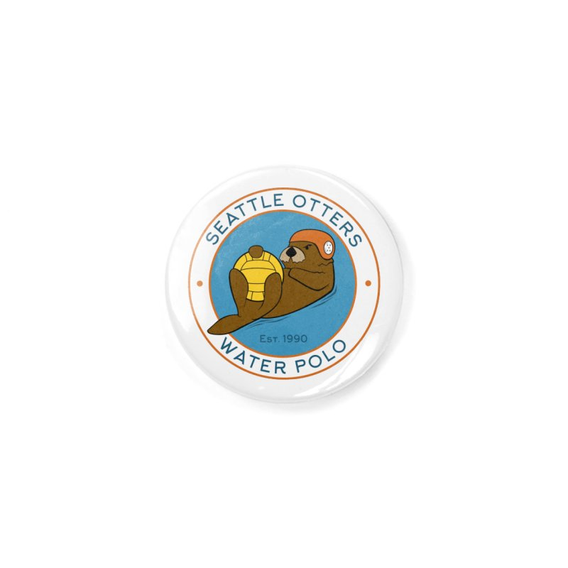 Otters Logo Accessories Button by Seattle Otters Water Polo