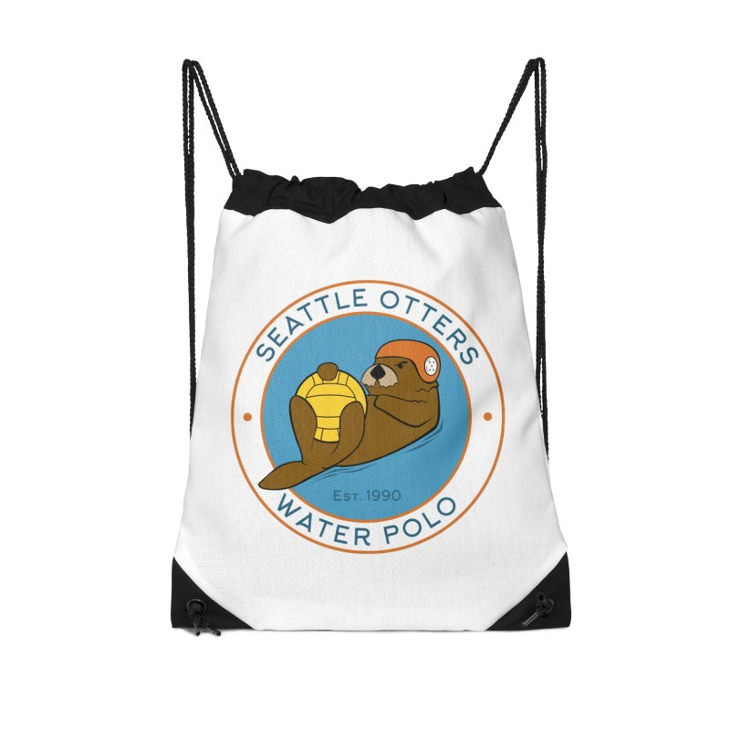 Otters Logo Accessories Drawstring Bag Bag by Seattle Otters Water Polo