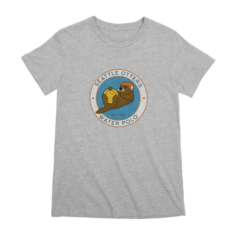 Otters Logo Women's Premium T-Shirt by Seattle Otters Water Polo