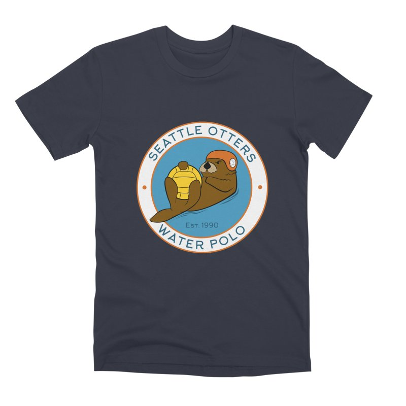 Otters Logo Men's Premium T-Shirt by Seattle Otters Water Polo