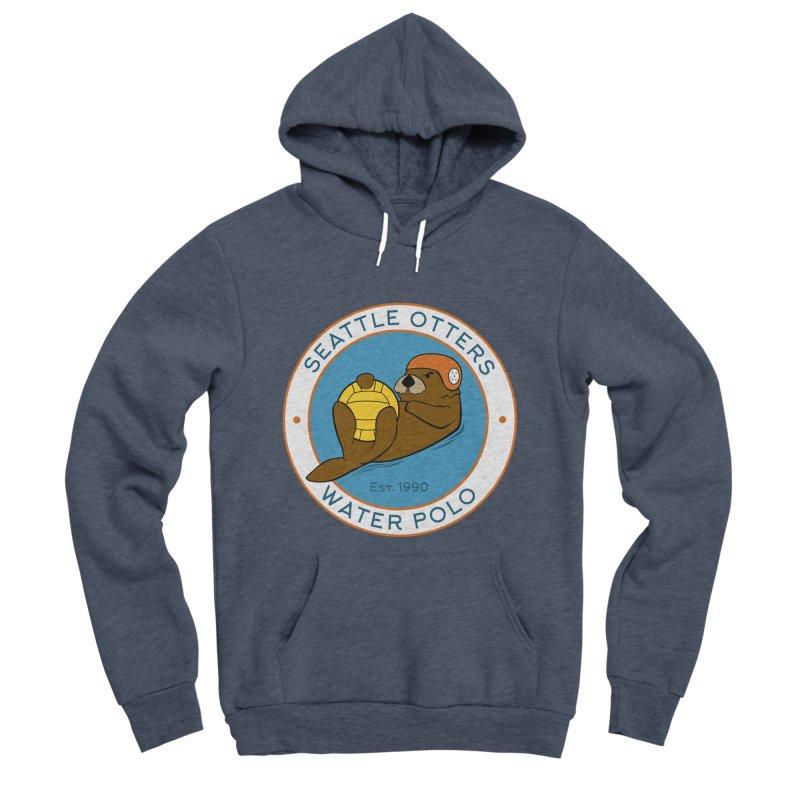 Otters Logo Men's Sponge Fleece Pullover Hoody by Seattle Otters Water Polo