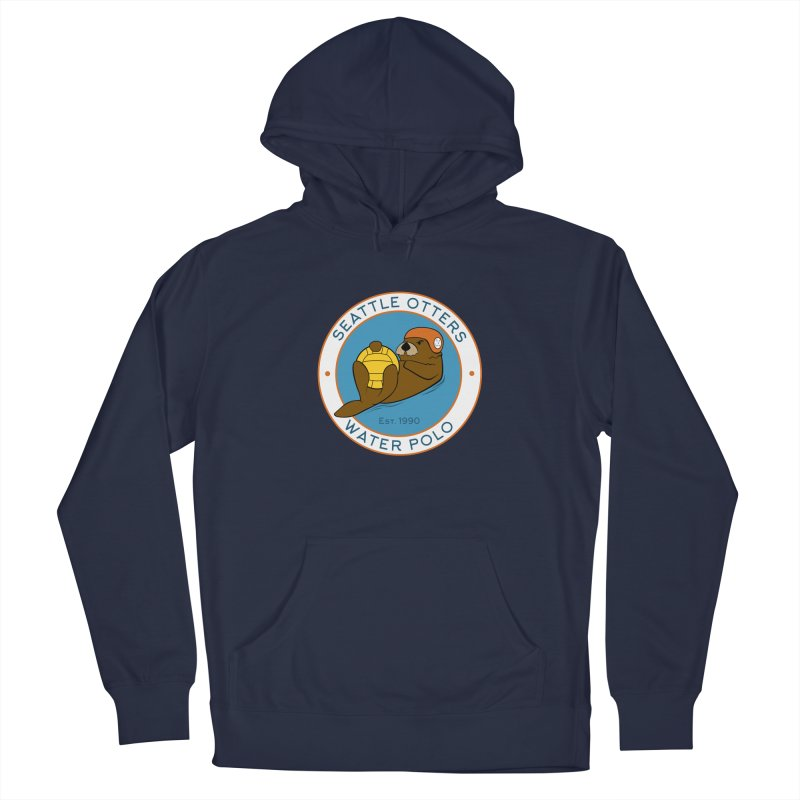 Otters Logo Men's Pullover Hoody by Seattle Otters Water Polo