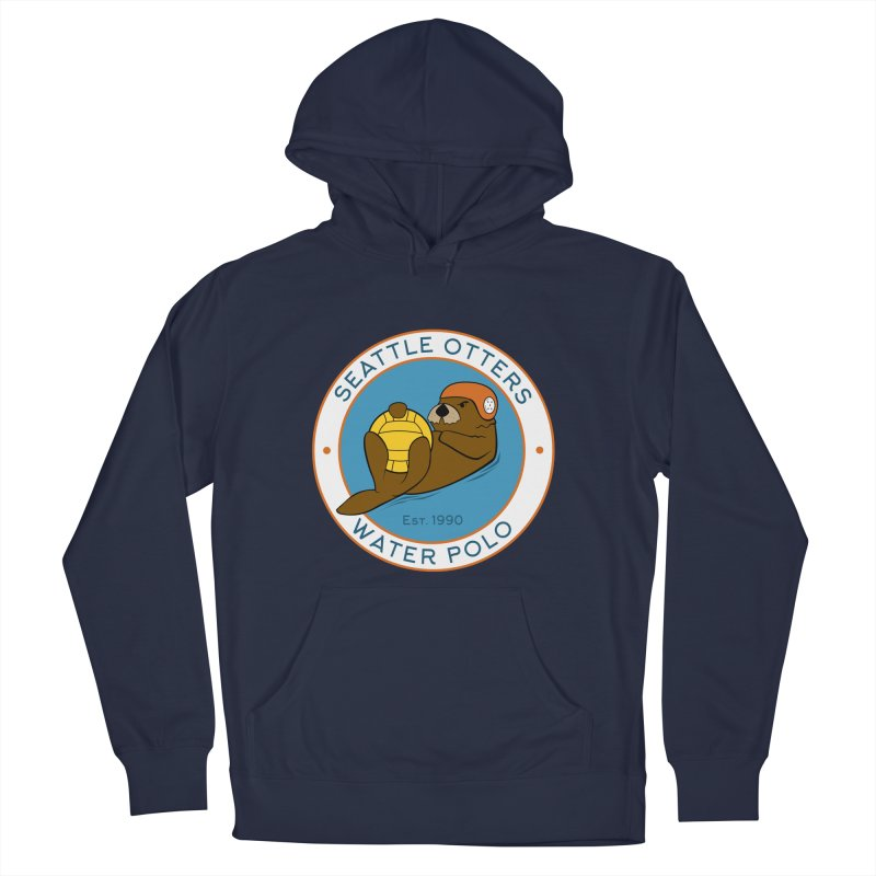 Otters Logo Men's French Terry Pullover Hoody by Seattle Otters Water Polo