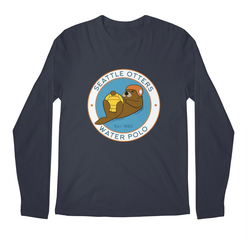 Otters Logo Men's Regular Longsleeve T-Shirt by Seattle Otters Water Polo