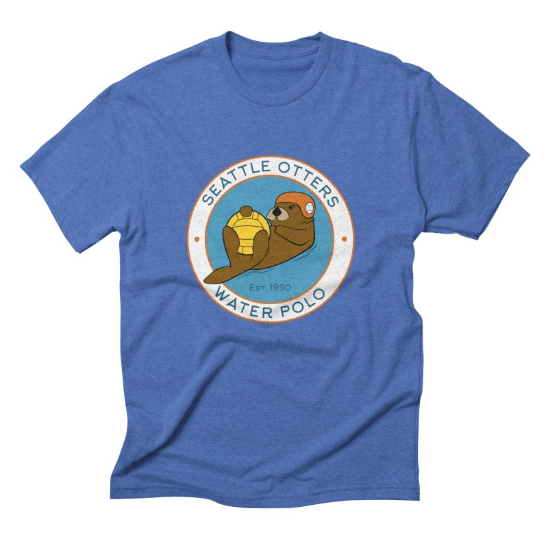 Otters Logo Men's Triblend T-Shirt by Seattle Otters Water Polo