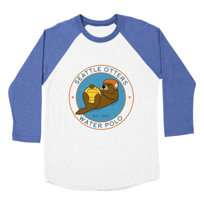 Otters Logo Women's Baseball Triblend Longsleeve T-Shirt by Seattle Otters Water Polo