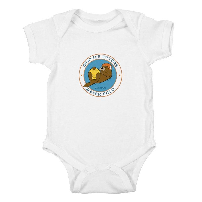 Otters Logo Kids Baby Bodysuit by Seattle Otters Water Polo