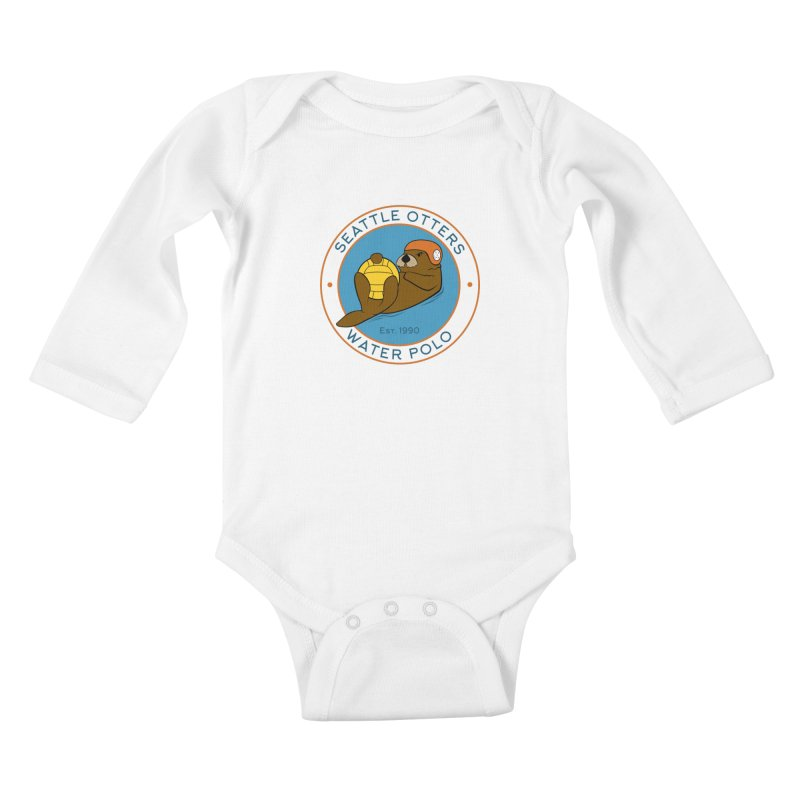 Otters Logo Kids Baby Longsleeve Bodysuit by Seattle Otters Water Polo