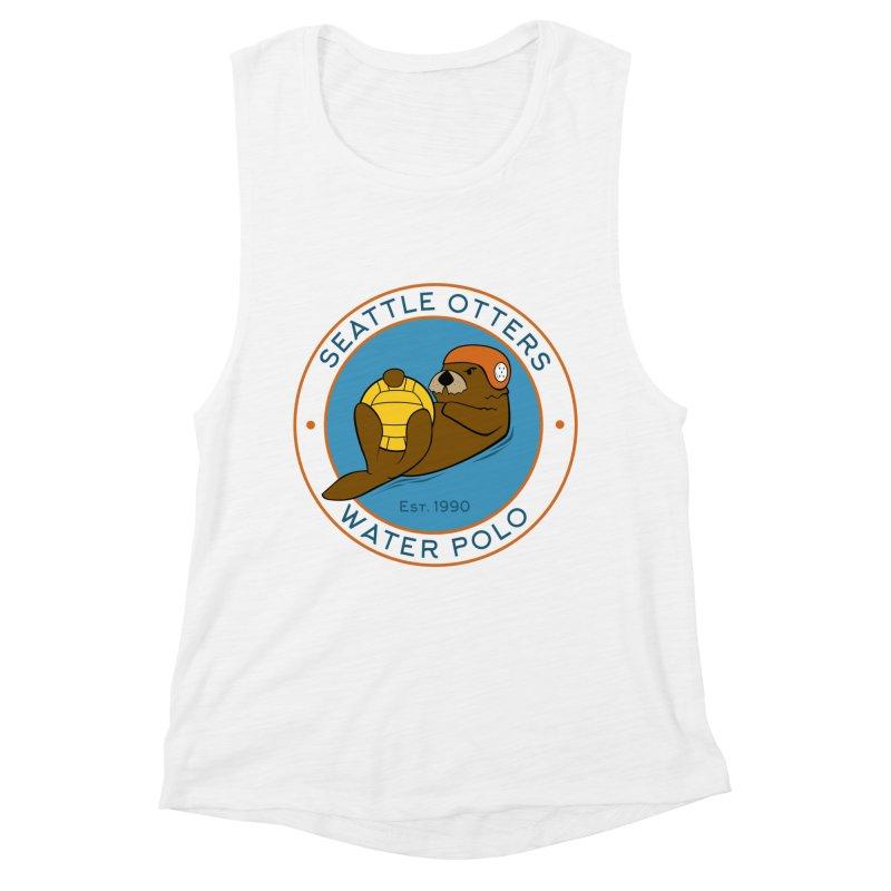 Otters Logo Women's Muscle Tank by Seattle Otters Water Polo