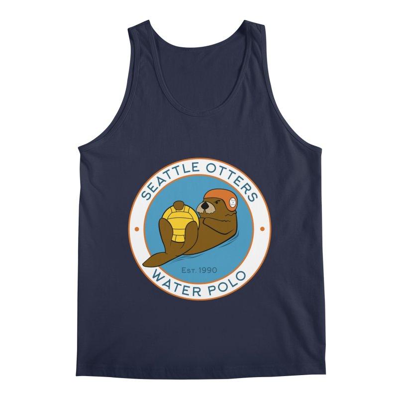Otters Logo Men's Regular Tank by Seattle Otters Water Polo